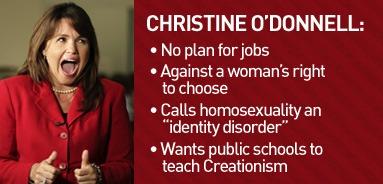 Christine odonnel anal maher
